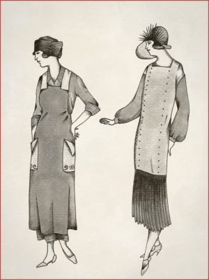 A pait of elegant ladies in grey almost steps out of this vintage tattoo illustration by Anna Sandberg